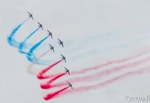 La Patrouille de France en Formation Grande Flèche