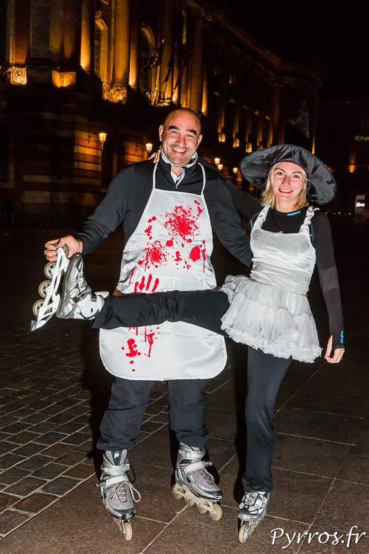 Un boucher et sa sorcière se retrouvent pour la randoween
