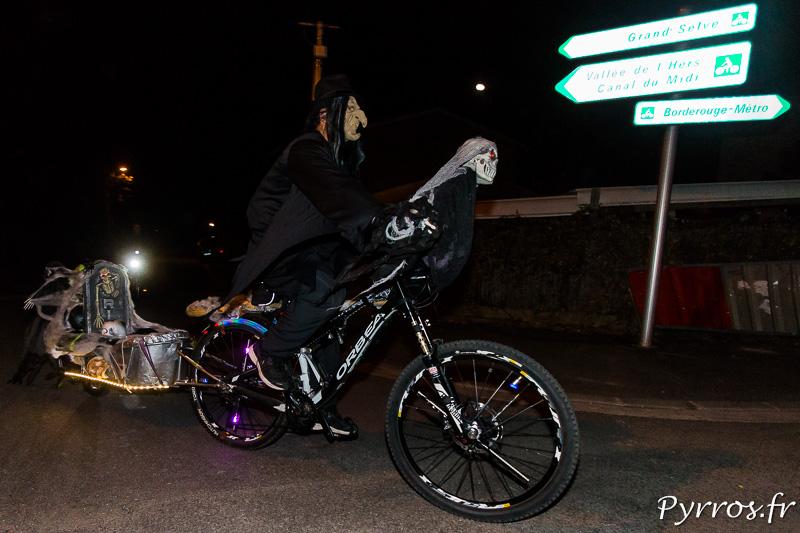 Pour la randoween les cyclistes ont aussi décoré leur vélo