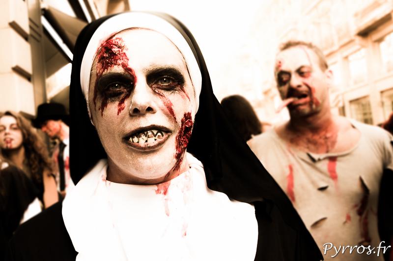 Meme chez les bonne soeur il y a des zombies qui participent à la zombies walk de Toulouse