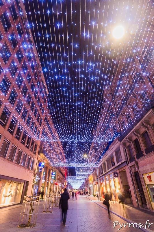 Le filet lumineux de la rue Alsace Lorraine