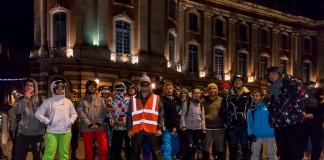 """70 patineurs se sont donnés rendez vous au départ de la randonnée """"Les Bronzés font du roller"""""""
