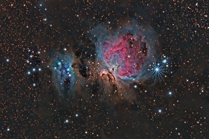 Nébuleuses M42, M43 & Running Man