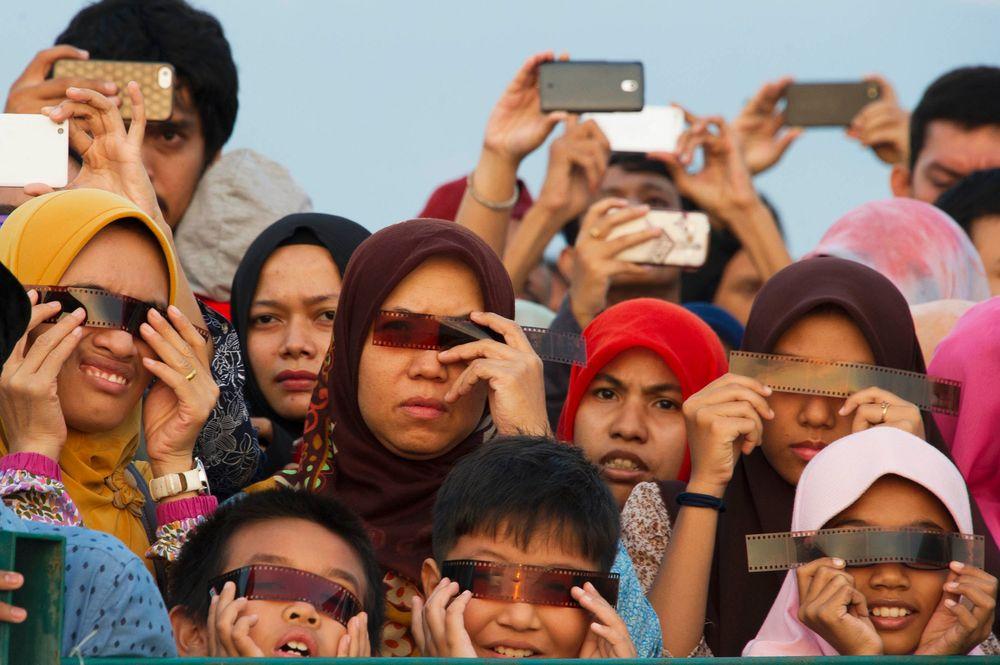 Eclipse solaire en Indonésie
