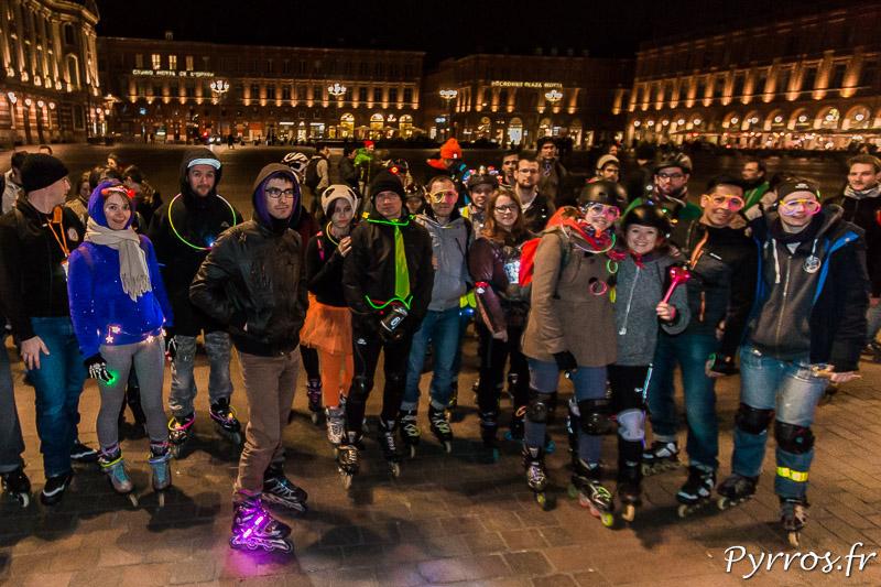 Les patineurs illuminés pour la randonnées roller étaient peu nombreux