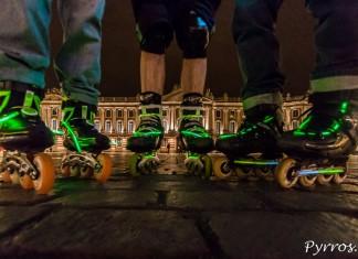 Roulez Rose la randonnée roller illumine Toulouse