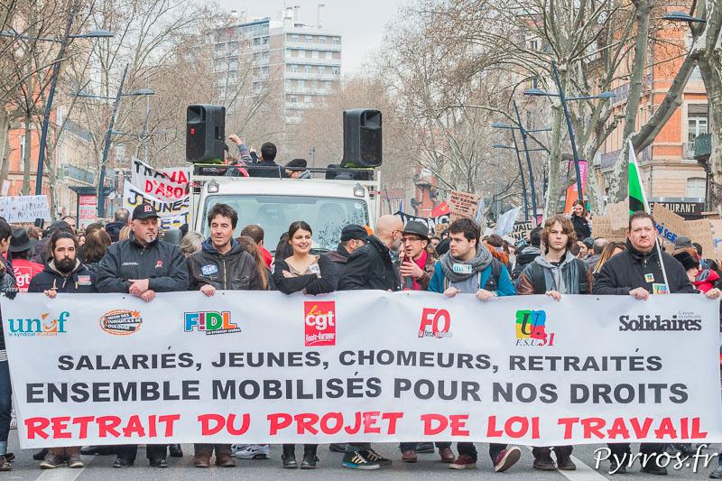 Retrait du projet de loi travail entre 6'500 et 10'000 personnes ont manifestées à Toulouse