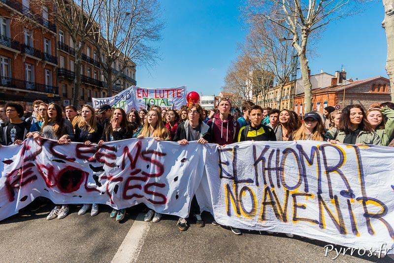 Les Lycéens sont révoltés la loi El Khomri ne leur promet pas un bel avenir