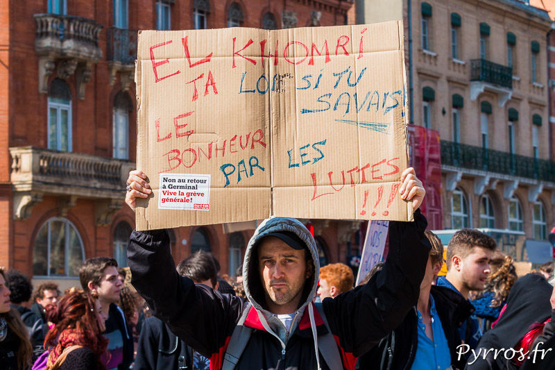 Pancarte à la manifestation contre la loi El Khomri