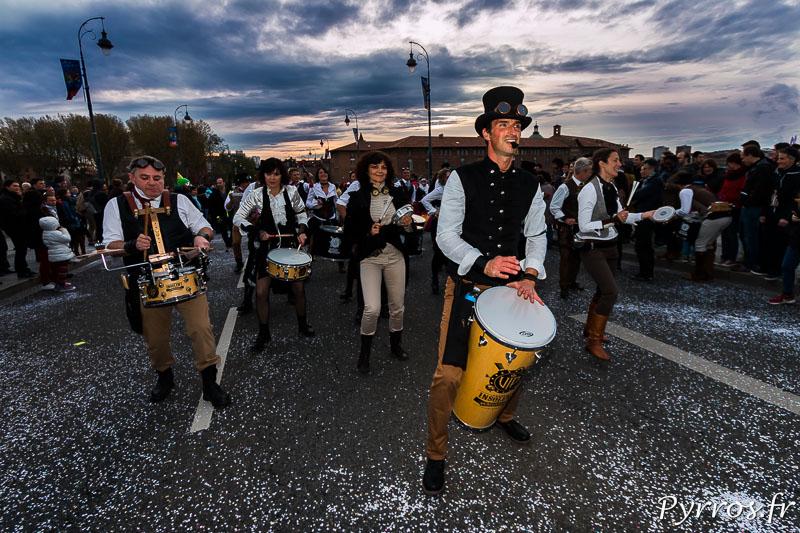 Une Batucada Steampunk lors du Grand Carnaval 2016 de Toulouse