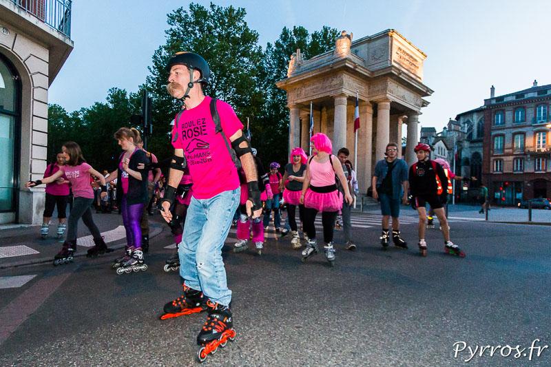 """Les parcours de la randonnées roller """"Tous en Rose"""" visite des nombreuses rues de Toulouse"""