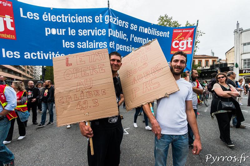 Certains manifestants viennent du Béarn pour défiler à Toulouse, ils esperent pouvoir monter à Paris prochainement