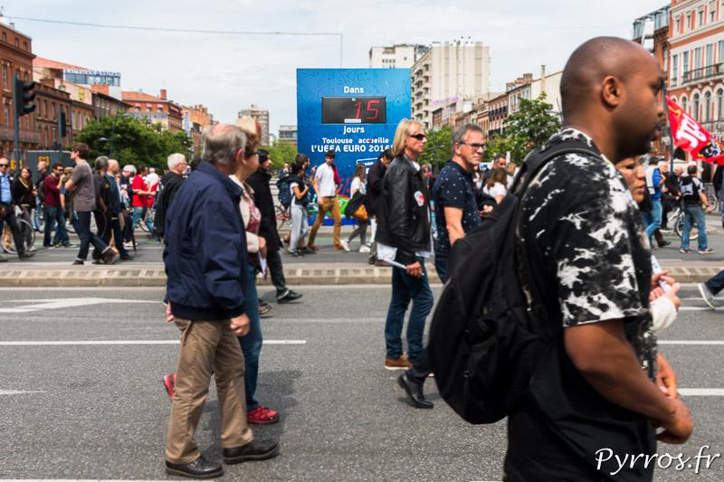 La manifestation contre la Loi travail se déroule 15 jours avant l'ouverture de l'Euro Uefa 2016