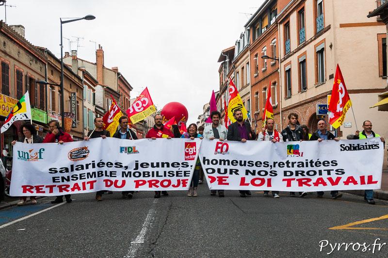 7'000 personnes ont manifesté à Toulouse pour demander le retrait de la loi travail