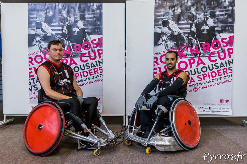 Nicolas DAUCHET (1) de STRH utilise un fauteuil défensif tandis que Tristan BARFÉTY (30) de STRH utilise un fauteuil offensif