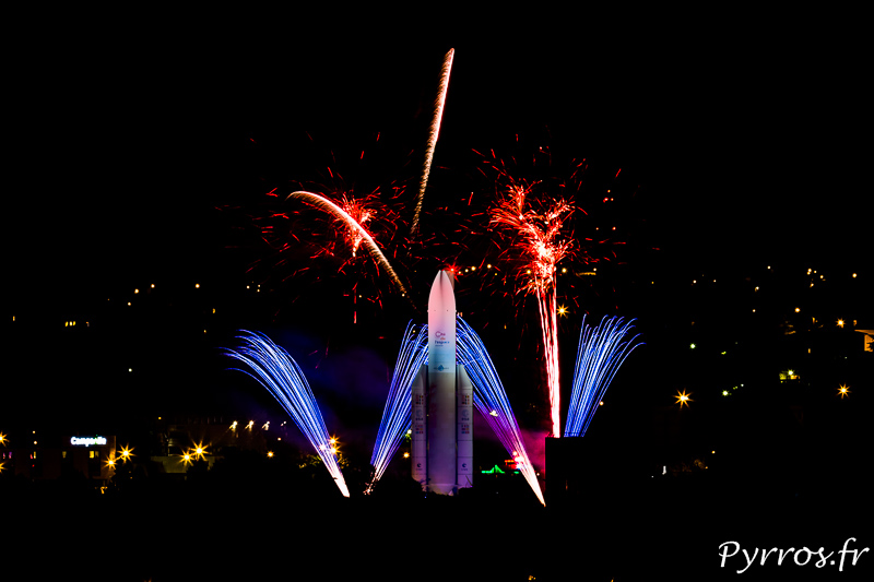 L'ouverture nocturne de la cité de l'Espace e Toulouse se termine par un feu d'artifice