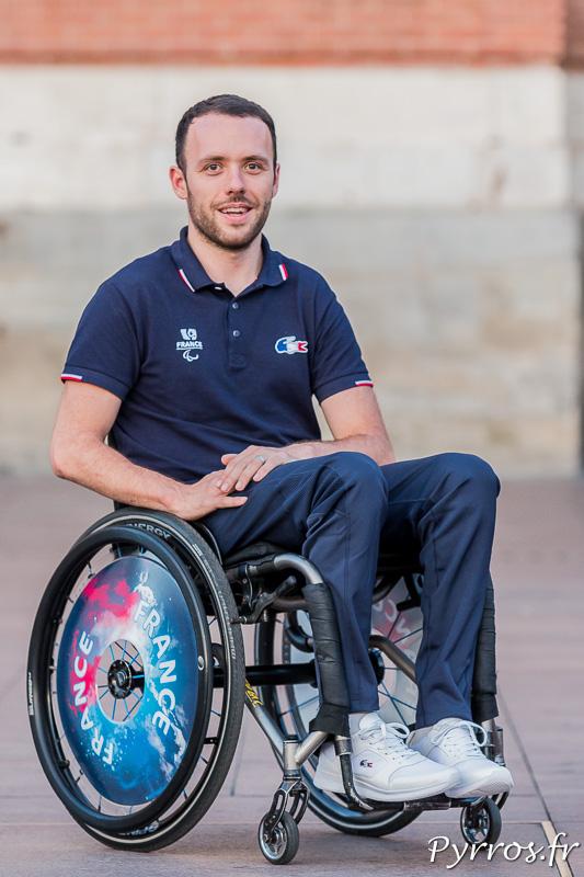 Jonathan Hivernat quelques jours avant son départ pour les Jeux Paralympiques de Rio 2016