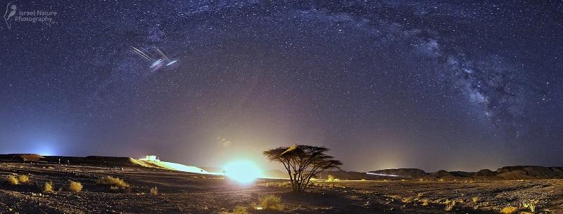 (Canon 600D + Tokina 11-16 f/2.8 – 11mm – Panorama d'une dizaine de photos format portrait prises à f/2.8 –40s – ISO800)(Photo : Ary Brami)