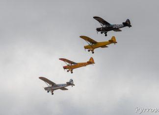 Les Pipers prennent le départ de la course aux pylônes organisée dans le ciel de Gimont