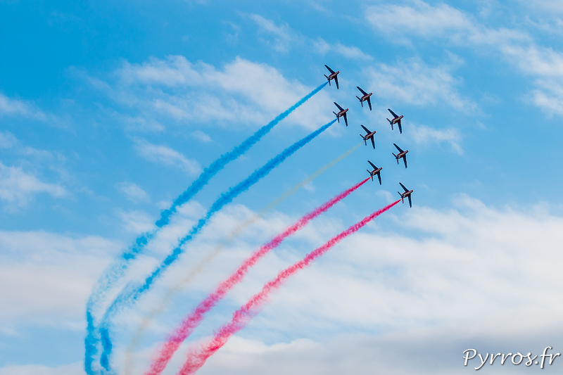 La Patrouille de France en formation Diamant
