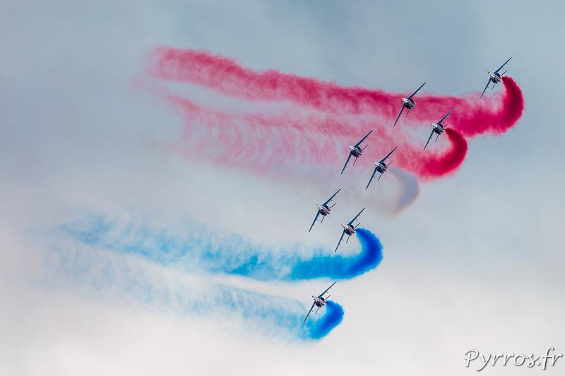 La Patrouille de France en formation Canard