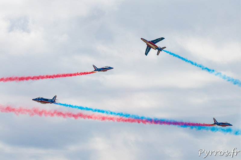 Croisement à 4 avions