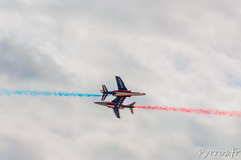 Percussion, les avions se croisent à 700km/h