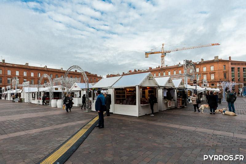 Le Marché de Noël de Toulouse ouvre ses portes dans le calme