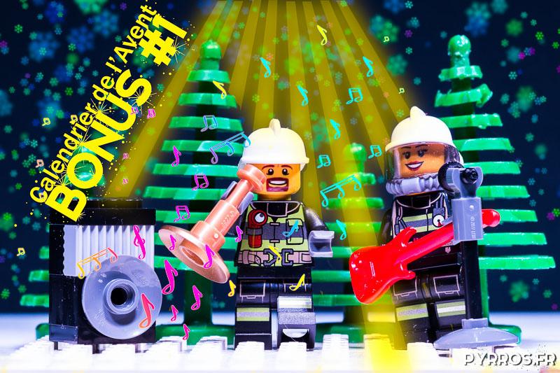 Calendrier de l'avent Lego 60133, Photo Bonus : Le Concert des Pompiers