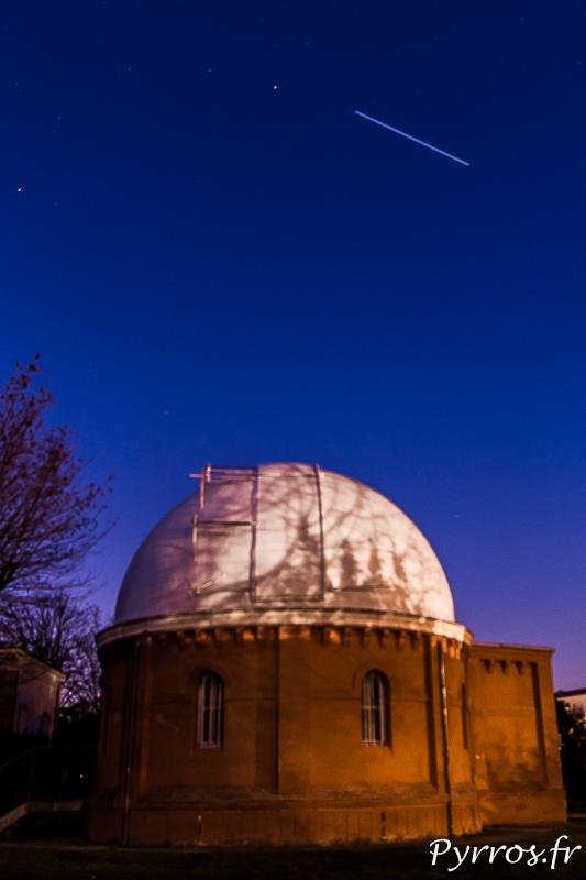 La Station Spatiale Internationale passe au dessus de l'Observatoire de ToulouseLa Station Spatiale Internationale passe au dessus de l'Observatoire de Toulouse