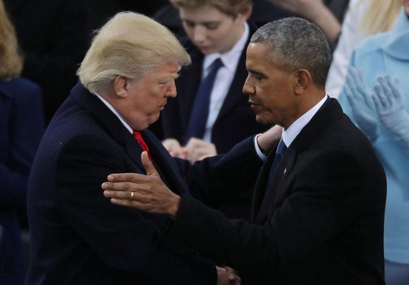 Trump et Obama se serrent la main, une page se tourne pour les États Unis d'Amérique