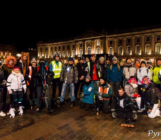 Un peu plus de 30 patineurs ont bravé le froid de la rando les Bronzés font du roller