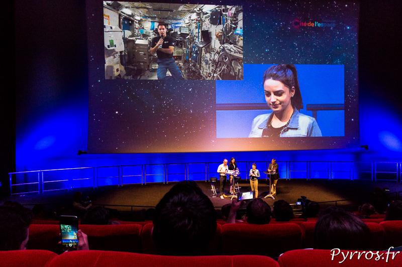 Thomas Pesquet répond aux questions des visiteurs de la Cité de l'Espace