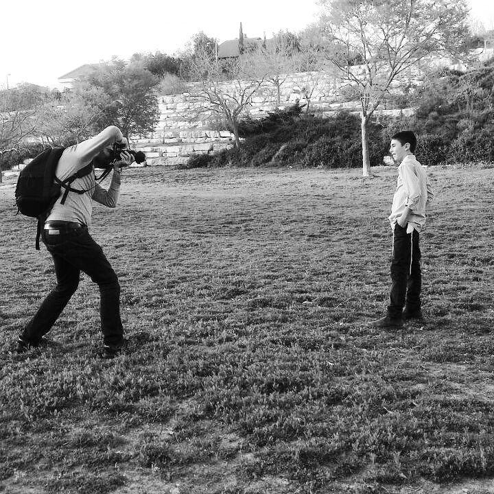 Ary Brami lors d'un shooting