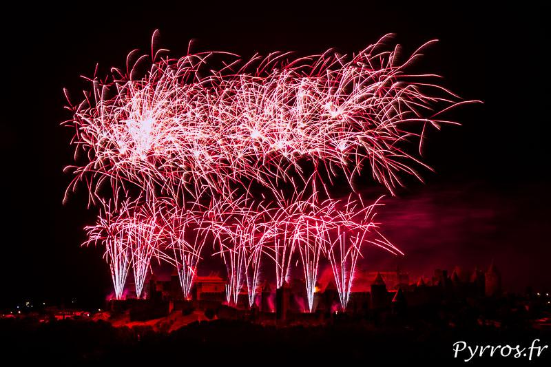 Carcassonne tire un Feu d'Artifice au dessus de la Cité