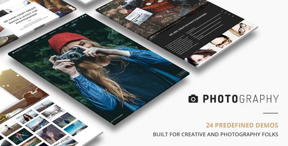 Photography thème wordpress pour les photographes