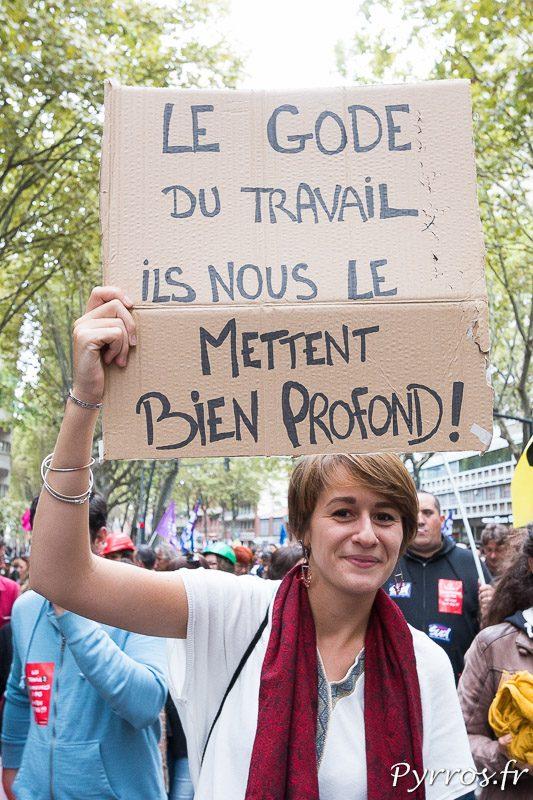 De nombreux manifestants affichent leur désaccord contre la politique du gouvernement