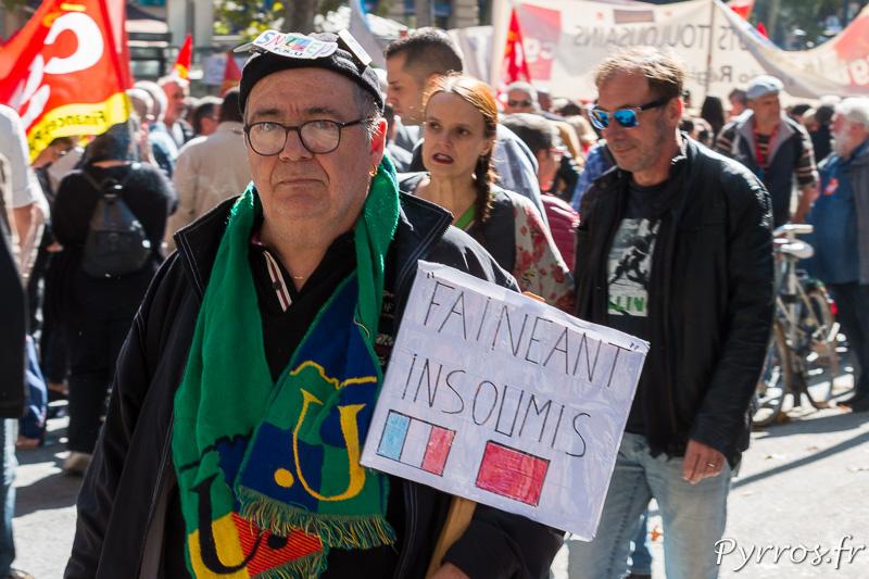 Un manifestant est un fainéant insoumis