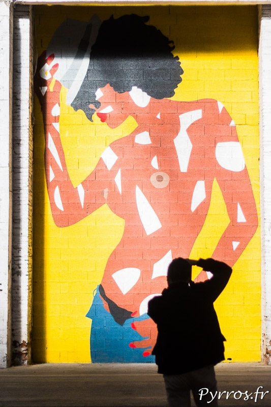 Un visiteur prend des photos de l'un des Graf' lors de Mister Freeze 2017
