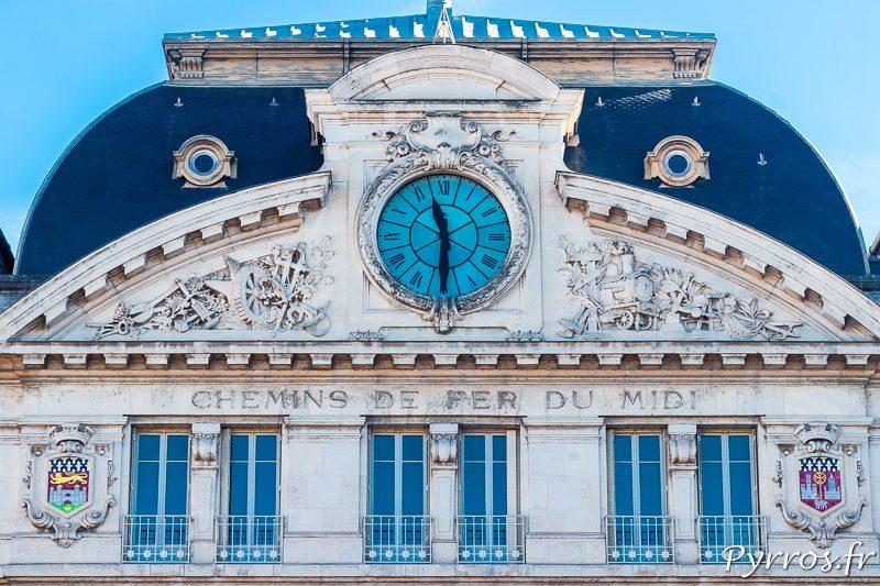 Cadran de l'horloge de la Gare Matabiau