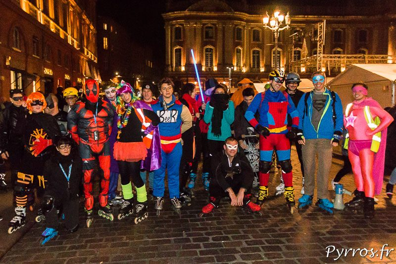 Un peu plus de 60 personnes ont pris le départ de la rando des Super-Héros