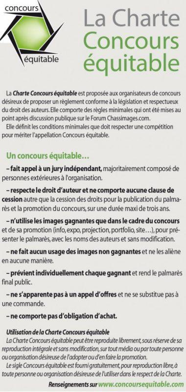 Charte des concours équitables