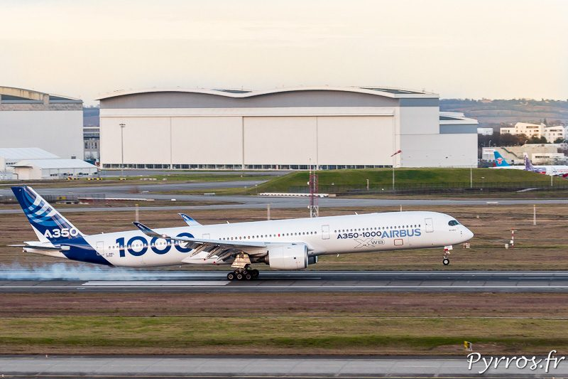 Atterrissage A350-1000