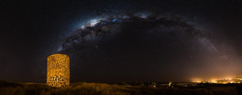 Naissance de la Voie lactée - panorama de 8 prises de vue (photo : Gilles Adt)