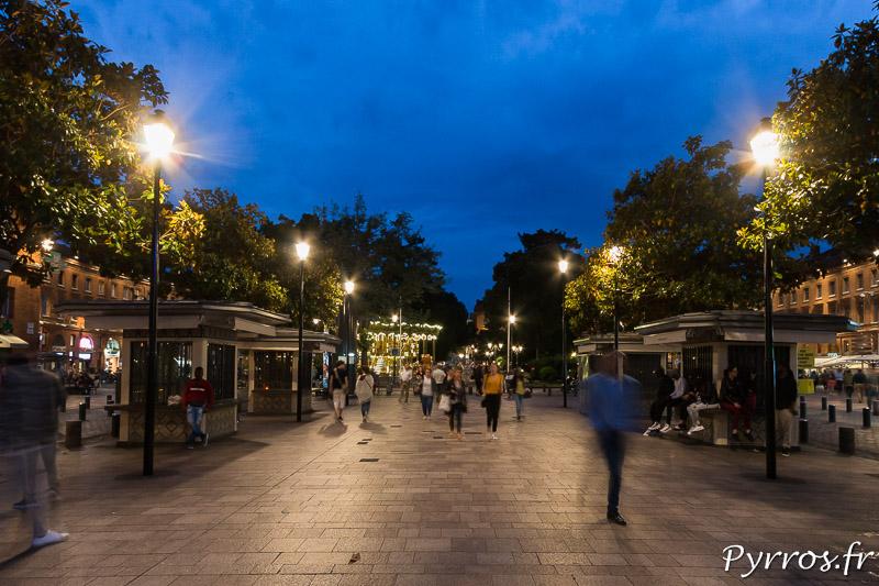 A Toulouse la place Wilson brille de mille feux grâce au plan lumière
