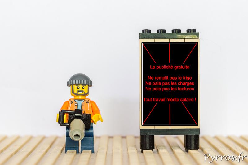 Travailler gratuitement ne fait pas de publicité