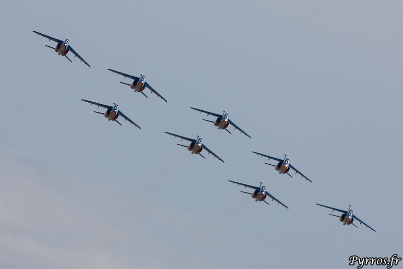 Patrouille de France (PAF) vol en formation