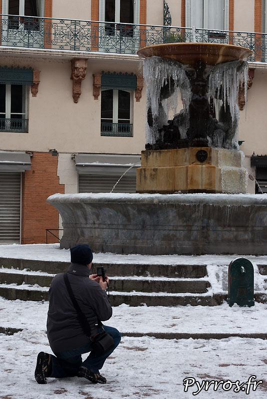 Neige à Toulouse, prise de photo.