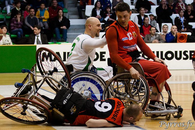 Euro Ligue 2 (handibasket) Tour préliminaire Toulouse IC vs RSC Frankfurt (Allemagne), Toulouse s'impose 66 à 59, chute