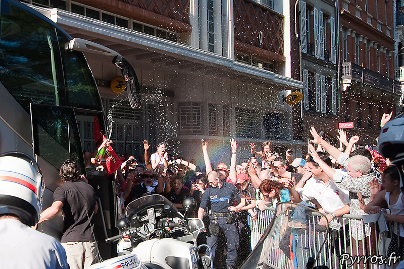 Bataille de Champagne avec les supporters du Stade Toulousain